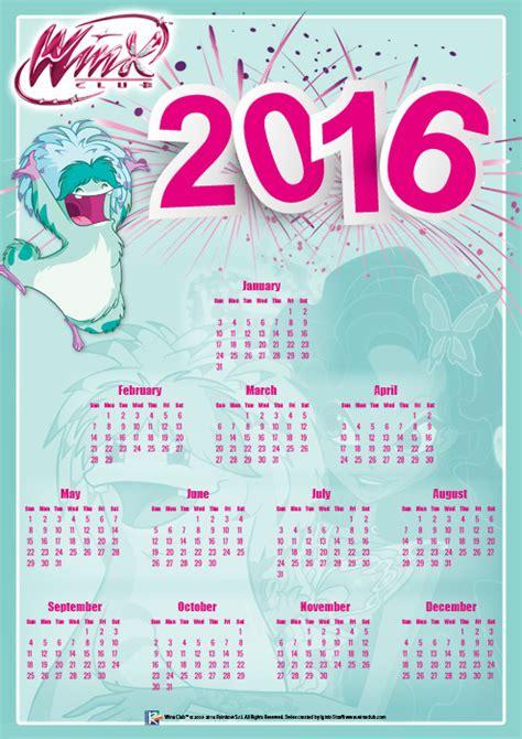 Calendario De Hadas 2016 Welkom 2016 Winx Club
