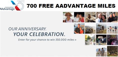 American Airlines Anniversary Giveaway - american airlines 35th anniversary get 700 free aadvantage miles chance to win