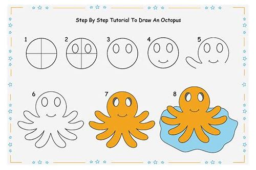 draw octopus step by