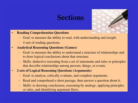 How Many Sections Are On The Lsat by Ppt Lsat Preparation Series Powerpoint Presentation Id