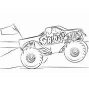 Ausmalbild Grinder Monster Truck  Ausmalbilder Kostenlos