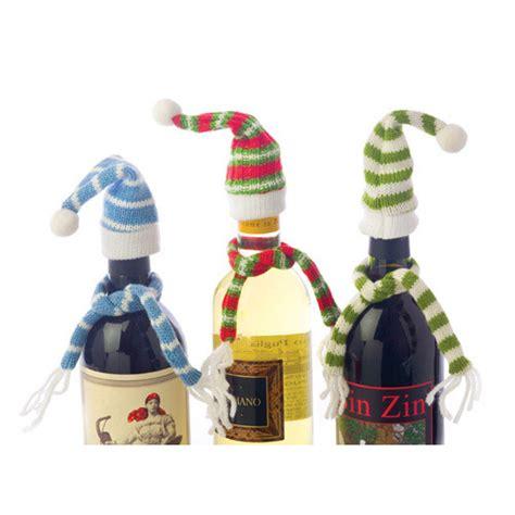 bottle wine topper hat  scarf decorative bundled beer