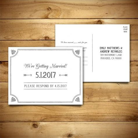 rsvp card microsoft template printable wedding postcard rsvp response card template