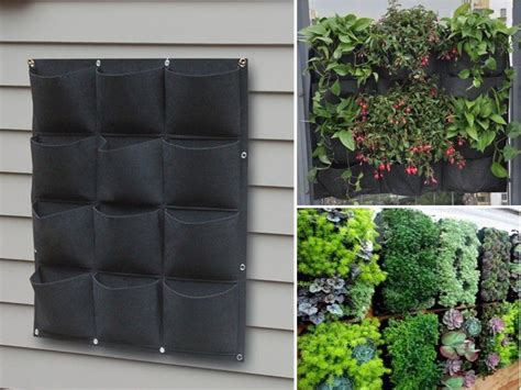 patio wall planters 12 pocket outdoor vertical living wall planter pet