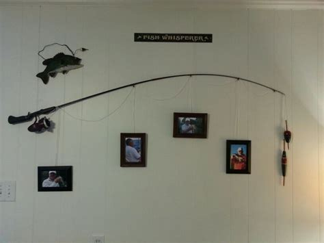 the fishing pole frame home decor