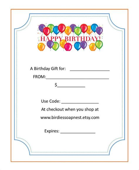 fancy gift certificate template sle birthday gift certificate template 7