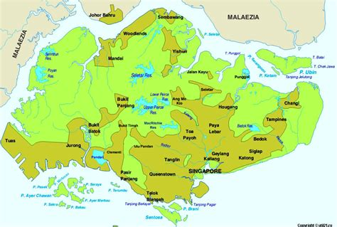 singapore on a map map of singapore republic of singapore maps mapsof net