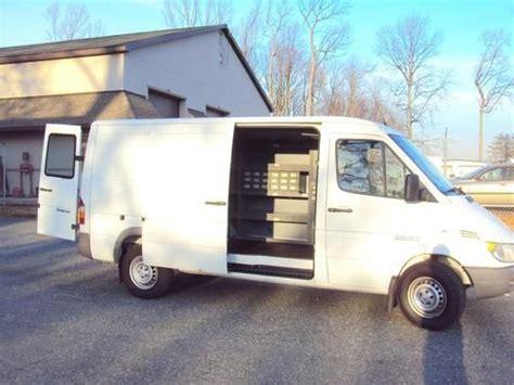 buy used 2006 dodge sprinter 2500 3 4 ton diesel cargo van workshelves bins low reserve in bel