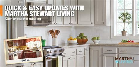 martha stewart cabinet refacing reviews kitchen cabinet refacing at the home depot
