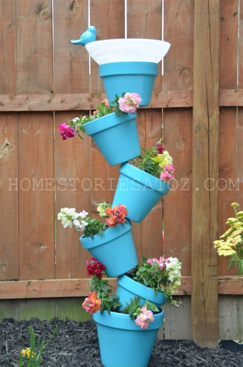 Diy Outdoor Planters by Diy Garden Planter Birds Bath Home Stories A To Z