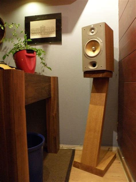 diy wood bookshelf speaker stand wood