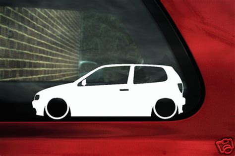 vw polo gti  mk tdi gti outline silhouette stickers decals