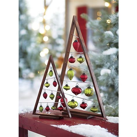 small a frame ornament tree in christmas decorating