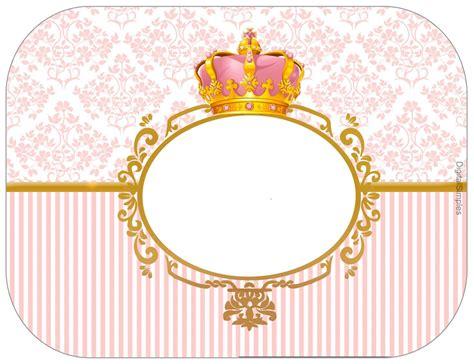 coronas para imprimir corona dorada en fondo rosa etiquetas para candy bar para