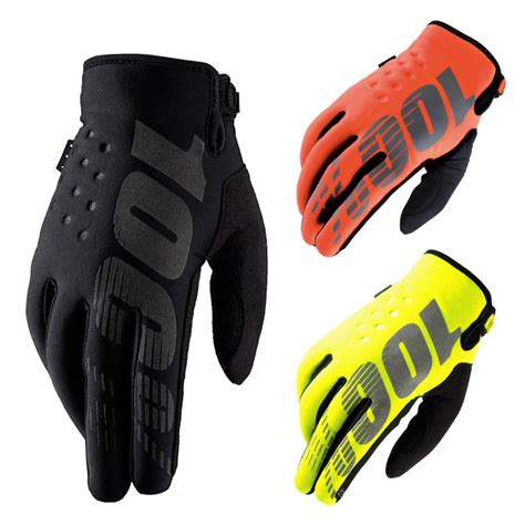 winter motocross gloves 100 percent brisker winter mx gloves black motocross