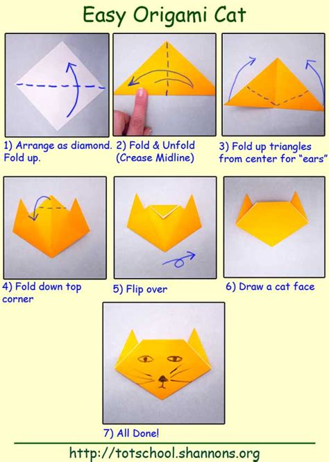 How To Make An Easy Origami Cat - cat origami for easy 2016