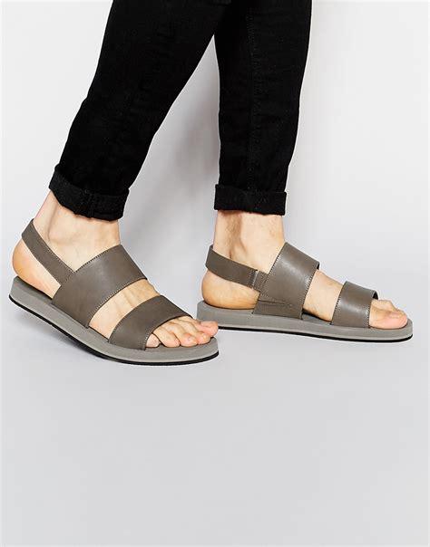 aldo sandals mens aldo riotorto sandals in gray for lyst