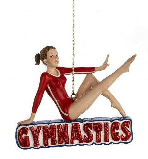 best gymnastics christmas gifts kurt s adler resin gymnastics gymnast gymnist tree ornament ebay