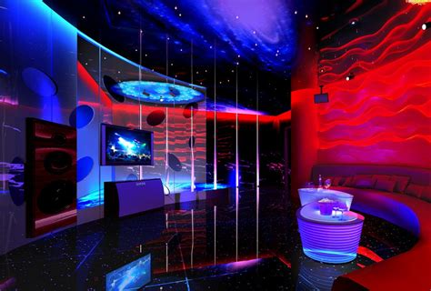 space themed interior decoration for ktv room