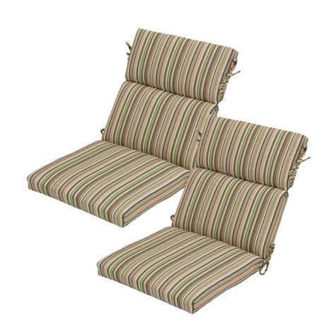 Outdoor Dining Chair Cushion Hton Bay Green Stripe Rapid Deluxe Outdoor Dining Chair Cushion 2 Pack 7719 02003100