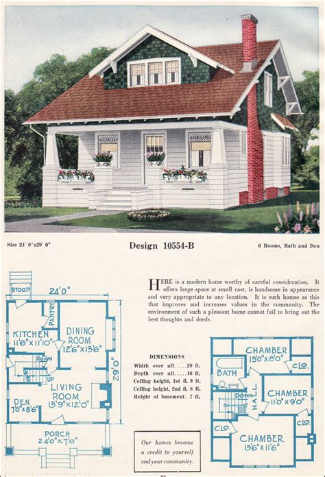 1920 house plans c 1923 bungalow c l bowes forward gable bungalow