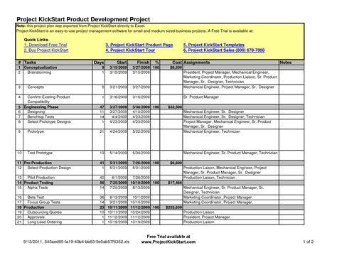 Project Plan Template Excel Free best photos of simple excel project planning template