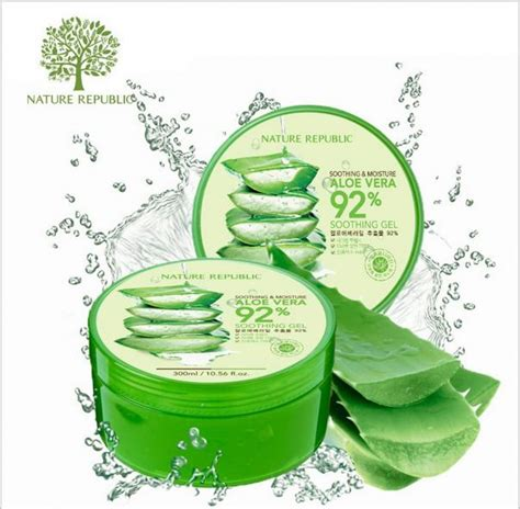 Nature Republic Aloe Vera Soothing Gel Bagus aira beautycare aloe vera soothing gel
