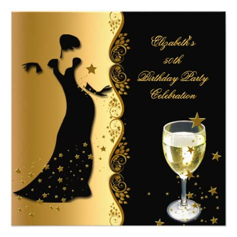 Birthday Themes Elegant | elegant lady 50th birthday party gold black wine 5 25