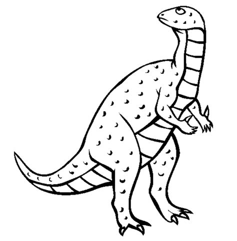 Free Coloring Pages Of Iguanodon Iguanodon Coloring Page