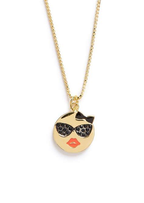 emoji necklace kate spade kate spade new york tell all emoji pendant