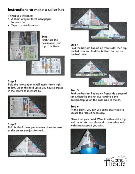 How To Make A Paper Sailors Hat - 48 best ideas for sport day at school images on