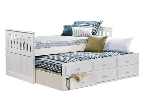 Slumberland Knollwood Collection White Twin Captains Bed Captains Bed White