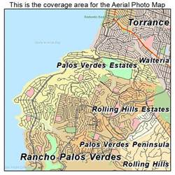 palos verdes california map aerial photography map of palos verdes estates ca california