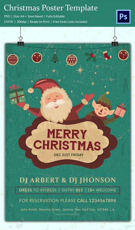 Sle Templates For Posters | best 28 christmas posters template sle christmas