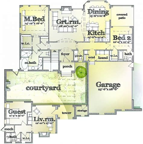 House Plans With In Apartment Separate by House Plans With Separate In Suites