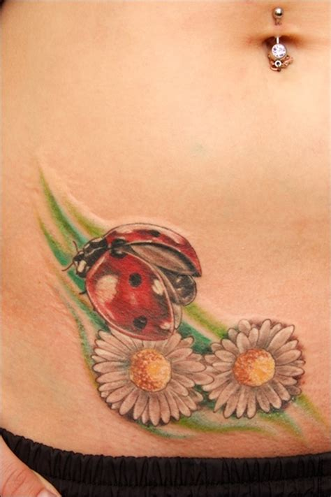 flying ladybug tattoo designs flowers and ladybug design of tattoosdesign of