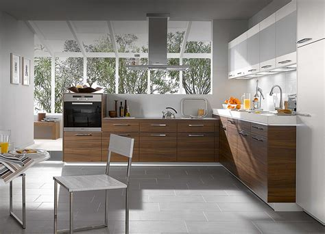 Walnut Kitchen Ideas | kitchen designs from warendorf walnut compact kitchen design