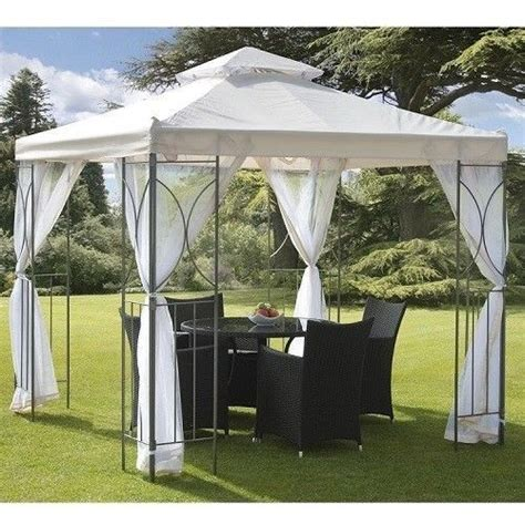permanent garden gazebo garden gazebo bbq sturdy steel waterproof roof side nets