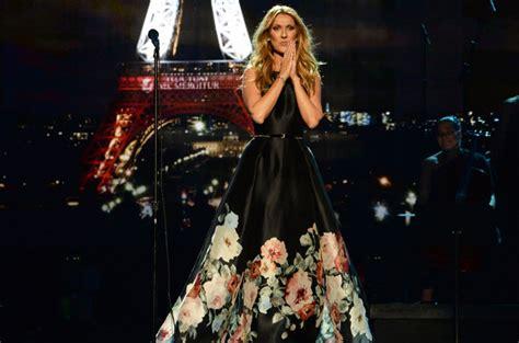 celine dion paris tribute celine dion at 2015 amas watch performance of hymne a l