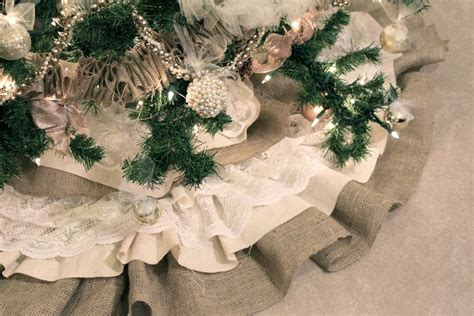 how to make a tree skirt burlap lace tree skirt tutorial u create