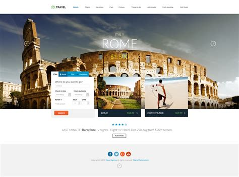 travel agency responsive html5 template by dajydesigns