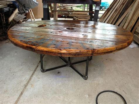 coffee table made from an cable spool our stuff
