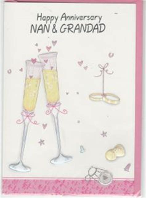 Wedding Anniversary Card Nan And Grandad by Anniversaries Nan And Grandad Greeting Cards