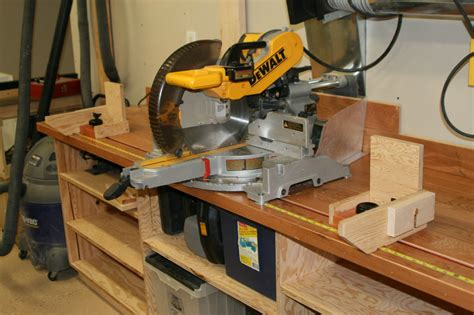 bench chop saw miter saw bench by rollinwoods lumberjocks com