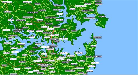 sydney suburb map browse info on sydney suburb map