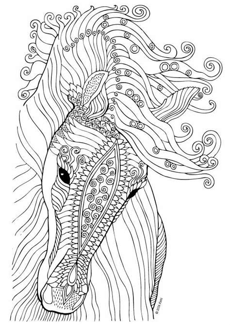 coloring pages for adults of horses 766 bedste billeder om malebog p 229 maleb 248 ger