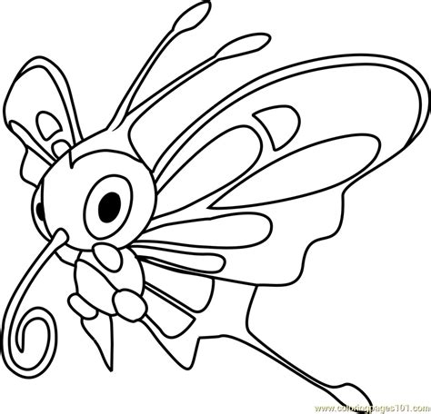 pokemon coloring pages beautifly beautifly pokemon coloring page free pok 233 mon coloring