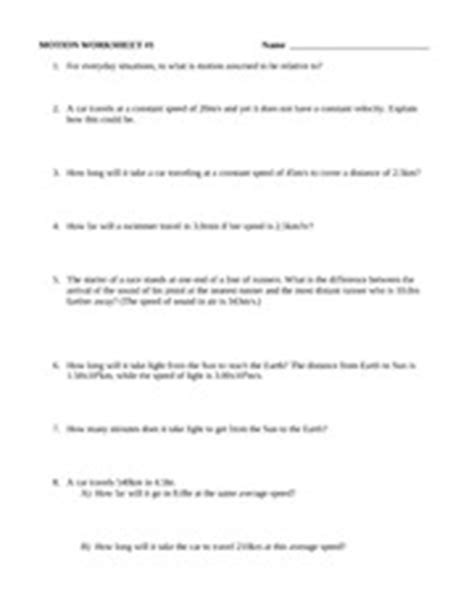 Velocity Worksheet 3 1 Answers by Worksheet 3 1 Velocity Answers The Large And Most
