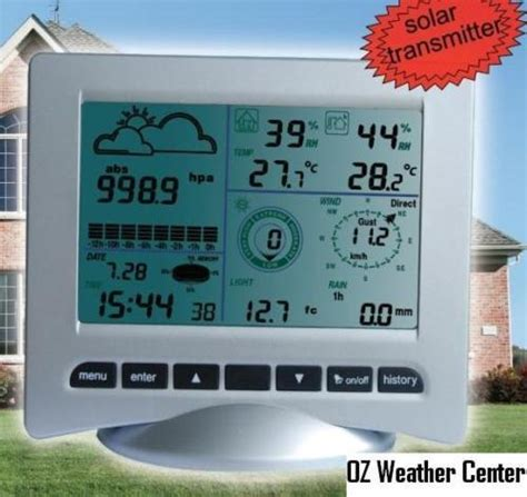 solar powered weather station wh3081 weather stations in