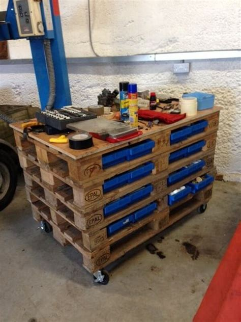 pallet work bench simple wooden pallet work bench ideas pallets designs